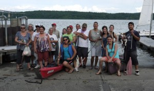 Participants on the 2012 4-day test trip on the Hudson