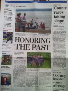 Front page of Auburn Citizen 6/8/13
