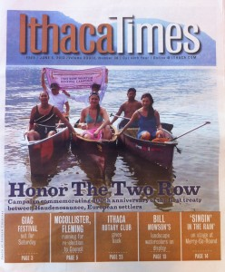 Two Row on Cover of Ithaca Times