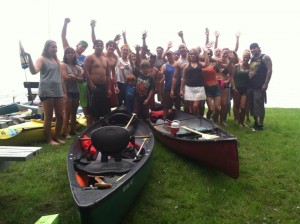 Paddler Group near Oneida Lake