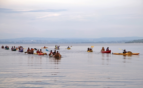 Two Rows of Paddlers July 2 Slider