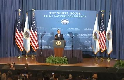 Obama Addresses Tribal Leaders 11-13-2013
