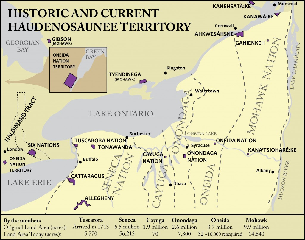Historical and Current Haudenosaunee Territory