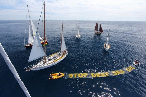 Greenpeace protest near New Zealand in November. Photo: Greenpeace